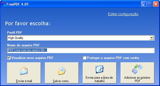 Gerando PDF com (ou sem) o Ghostscript